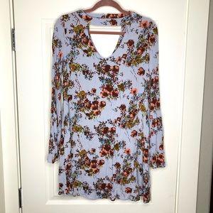 Mossimo mock neck floral tunic dress sz XS